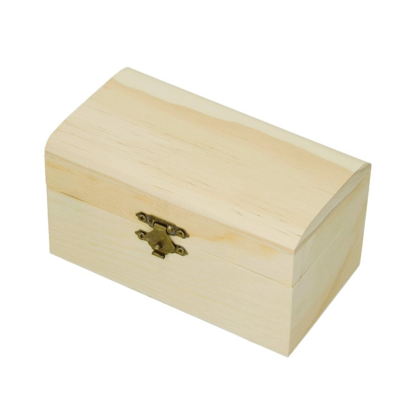 Wooden box, rounded lid, size 14 cm x 9 cm, to customized