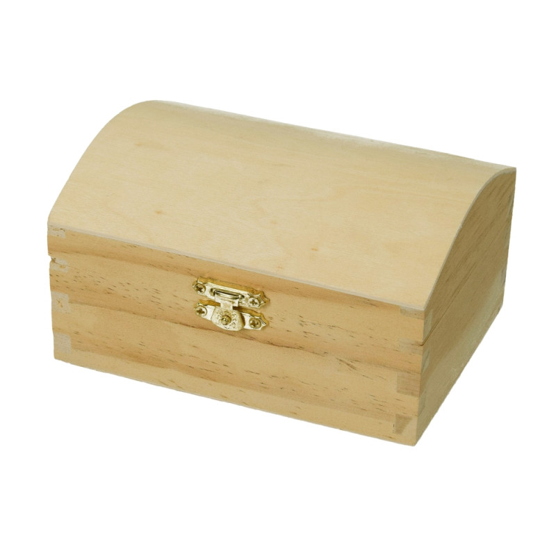 Pine wood box, with closure, size 13 x 9.5 cm, to be customized