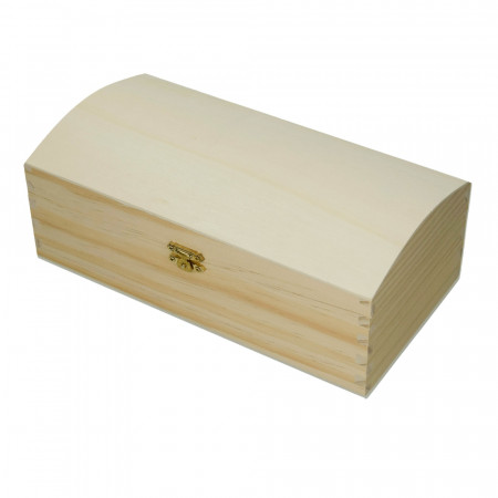 Large pine wood box, with closure, 25 cm x 13 cm x 9.5 cm, to be customized