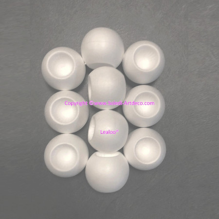 Lot of 10 candle holders in polystyrene, Christmas balls diameter 8 cm in white Styro