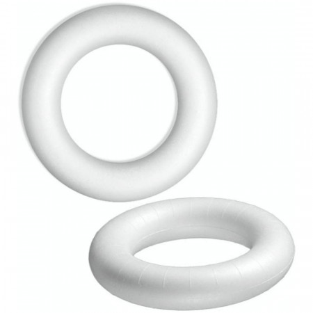 Lot of 15 Polystyrene Ring white Ø 15 cm, high density