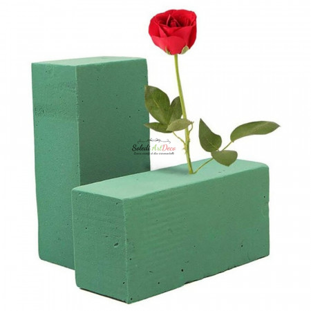Set of 2 bricks for fresh flowers, 23 cm, Block of synthetic foam, wettable