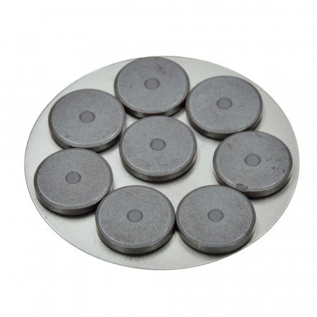 Set of 8 round magnets, 20 mm in diameter, 3 mm thick