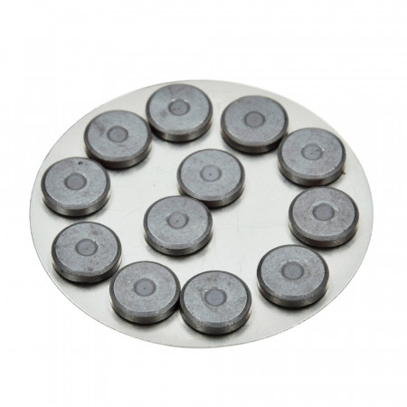 Lot de 12 Aimants ronds, 14 mm de diamètre, épaisseur 3 mm