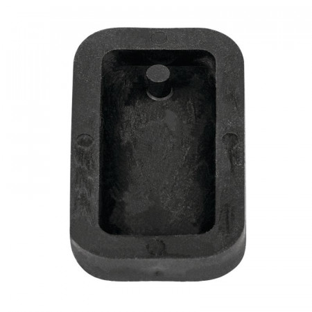 Rectangular jewelry mold, for cement, flexible rubber pendant, 3.9 cm, filling 7 mm