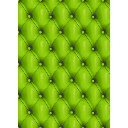 5 Sheets Decopatch n ° 618, Pattern: Green leather sofa, Paper 30x39 cm