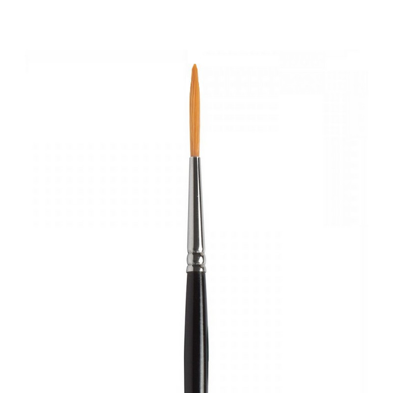 Toray brush, synthetic bristles, Size 0 / ø 1.6 cm, ideal for watercolor and gouache