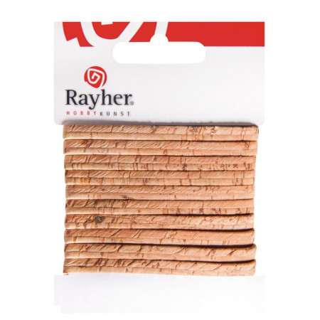 Real flat cork tape, 1m long, 5mm wide, 0.8mm thick