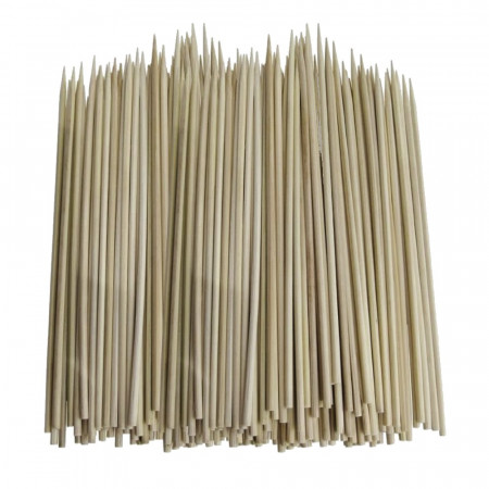 100 Wooden skewers length 30 cm, Ø 3 mm, craft sticks, one-side sharpened
