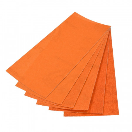 Set of 6 sheets, sandpaper, 3 grains 80-120-240, emery paper, 23 cm x 9.3 cm