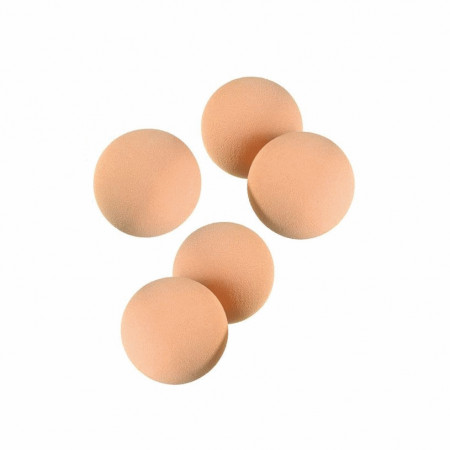 Set of 5 foam rubber balls, skin color, ø 5 cm