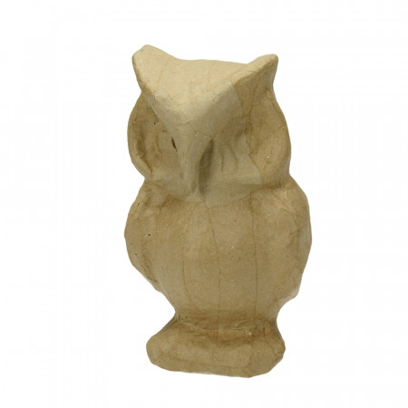 Paper mache owl, 14 x 9 cm, owl to customize