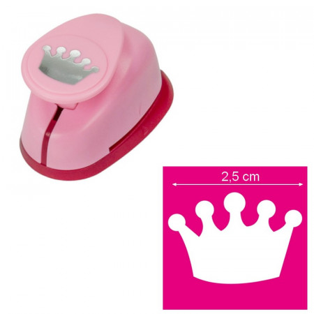 Crown pattern hole punch, size 2.5 x 1.7 cm