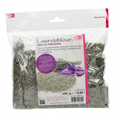 Dried lavender flowers, 100 gr sachet, ideal for stuffing or throwing