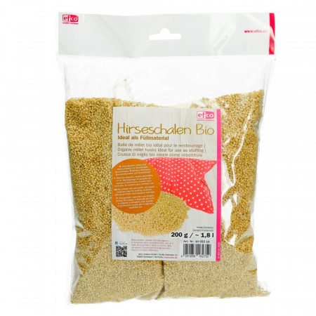 Organic Millet husks, 200 gr, ideal for us as stuffing