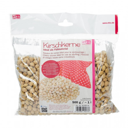 Cherry stones, 500 gr sachet, ideal for us as stuffing and hot water bottles