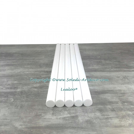 Lot of 5 cylinders diam. 4 cm x height. 80 cm, in polystyrene, Columns in white Styropor for display