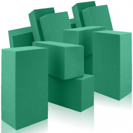 Set of 12 Bricks for fresh flowers, 23 cm, Synthetic foam block, wettable