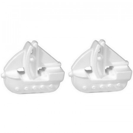 Set of 2 Boats, in polystyrene, length 17 cm, sailboat galleon