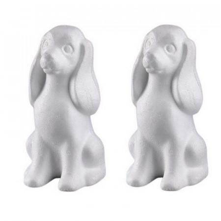 Set of 2 Polystyrene form dog Cocker, 24cm, high density
