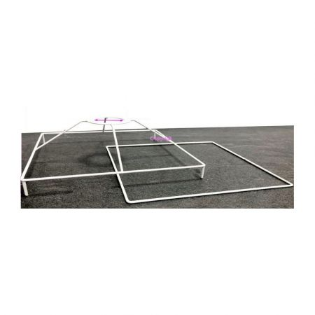 Square Frame Set with feet, 30 cm for lampshade, Square epoxy white, for lamp holder E27