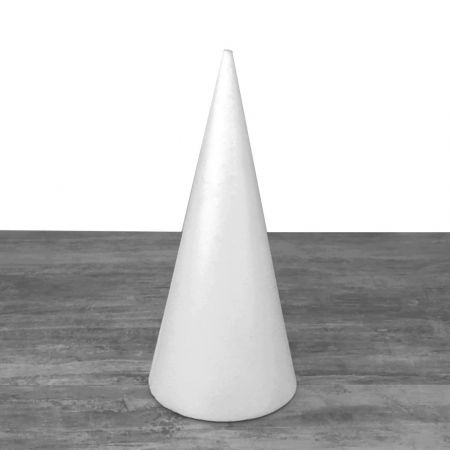 Polystyrene cone, height 40 cm, 18 cm base diameter, high density