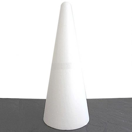 Big polystyrene cone EM, height 50 cm, 20 cm base diameter, high density