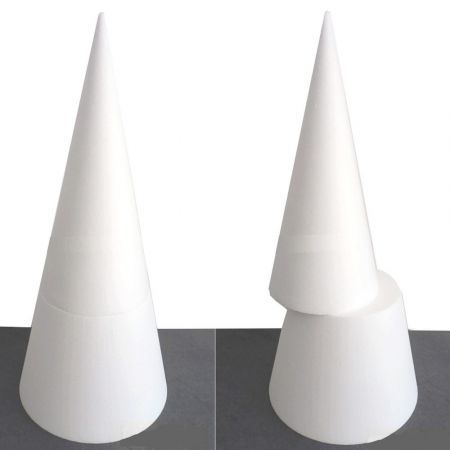 Big polystyrene cone L, height 60 cm, high density 25 kg/m3