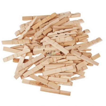 Maxi set of 1000 clothespins, raw wood, 7 cm, width. 1 cm, to customize