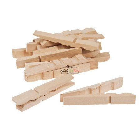 Set of 100 clothespins, raw wood, 7 cm, width. 1 cm, to customize