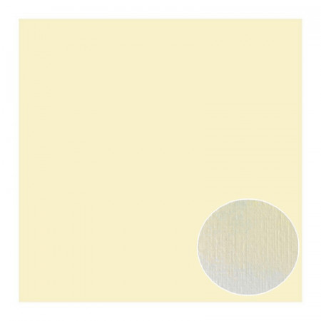 Lot of 6 sheets of Structured Linen Effect Scrapbook Paper, Cream, size 30.5 x 30.5 cm, 240g / m²