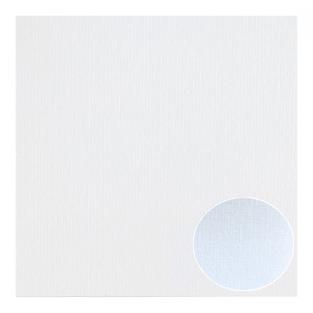 Lot of 5 sheets of Structured Linen Effect Scrapbook Paper, White, size 30.5 x 30.5 cm, 240g / m²