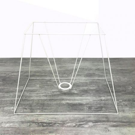 Carcass Shade Rectangle High 40 cm, Rectangular frame 4 branches in anti-corrosion epoxy, for E27