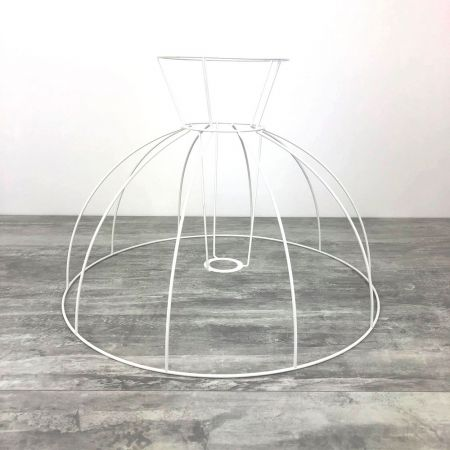 Carcass Lampshade Bell with Collar 45 cm, Dome Frame of 10 branches, in anti-corrosion epoxy, for E27
