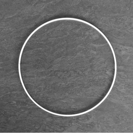 Large White Metal Circle of 55 cm for Shades, White Epoxy Wire ring for Dream Catcher