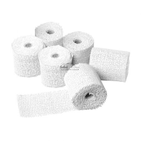Set of 6 Cast Plaster Strip Rolls, Width 10cm × 4.6m