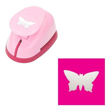 L perforator, butterfly motif, size 3.8 x 2 cm, for scrapbooking