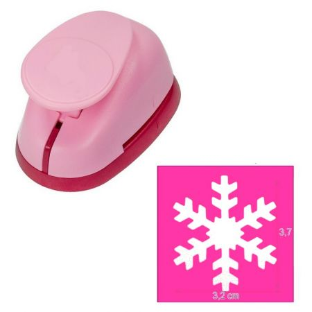 L perforator, snowflake pattern, size 3.7 x 3.2 cm, for scrapbooking