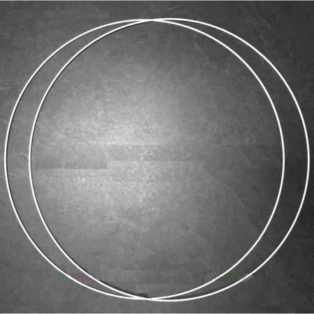 Set of 2 white metal circles Diameter 55 cm for lampshade, epoxy rings for Dreamcatcher