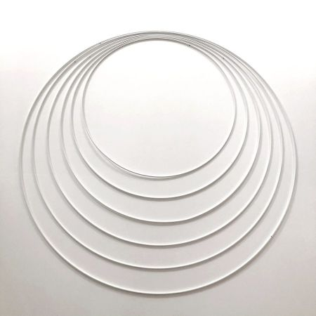 Set of 6 large white metal circles Diameter 35 cm to 60 cm for lampshade, epoxy rings for Dreamcatcher