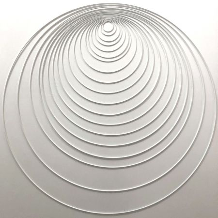 Set of 9 white metal circles Diameter 5 cm to 90 cm for lampshade, epoxy rings for Dreamcatcher