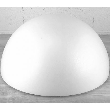 Polystyrene half sphere XXL, hollow dome, diameter 80 cm,height 40cm, high density