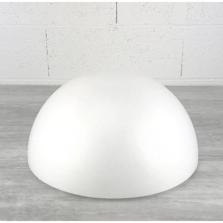 Polystyrene half sphere, hollow dome, diameter 40 cm, wall thickness 20mm, high density