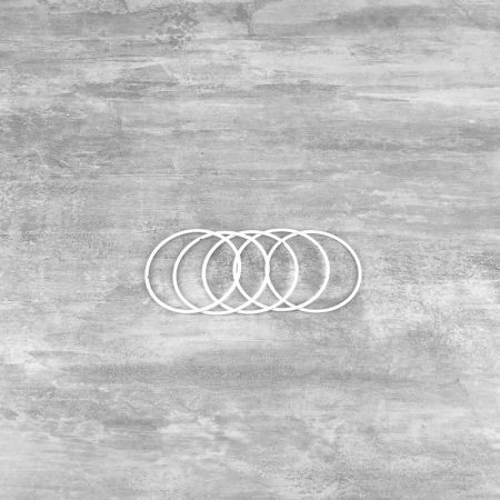 Set of 5 white metal circles Diameter 7 cm for lampshade, epoxy wire ring for Dreamcatcher