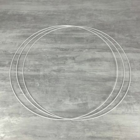 Big Set of 3 large white metal circles Diameter 70 cm for lampshade, epoxy rings for Dreamcatcher