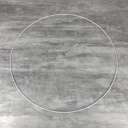 Large XXL White Metal Circle of 70 cm for Shades, White Epoxy Wire ring for Dream Catcher