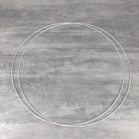 Set of 2 large white metal circles Diameter 70 cm for lampshade, epoxy rings for Dreamcatcher