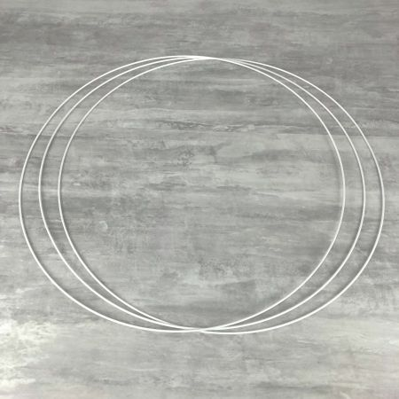 Big Set of 3 large white metal circles Diameter 80 cm for lampshade, epoxy rings for Dreamcatcher