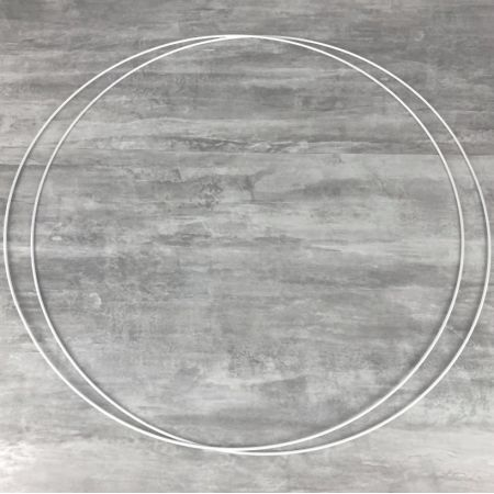 Set of 2 large white metal circles Diameter 90 cm for lampshade, epoxy rings for Dreamcatcher