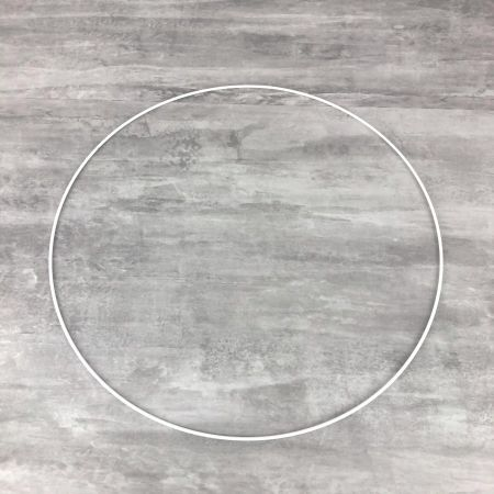Large White Metal Circle of 45 cm for Shades, White Epoxy Wire ring for Dream Catcher